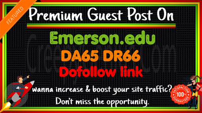 guest Post on Emerson.edu DA65 DR66