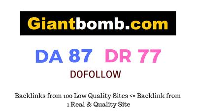 Guest Post on Giantbomb. com DA87 DR77