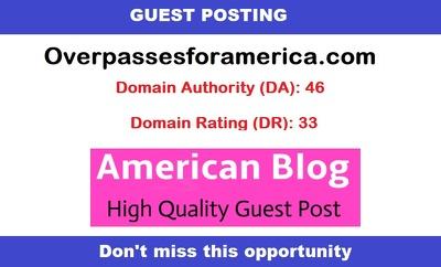 Write & publish a guest post on USA based DA46 news blog