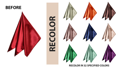 Recolor your product image in various colors swatches