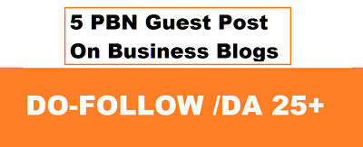 Write and Publish 5 PBN Guest Post On Business Blogs