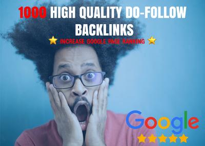 Make 1000 quality do-follow back-links