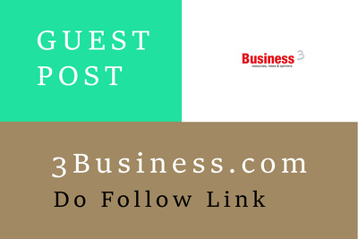 Post your article on 3Business.com