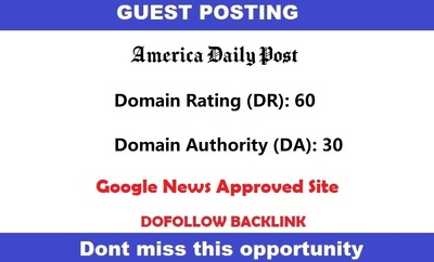 Guest post on Americandailypost -  Google News Approve Site