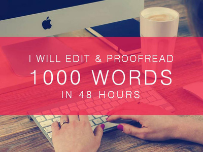 Be your professional book editor and proofreader 1,000 Words