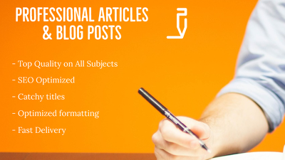 Write quality articles or blog posts (500 words)