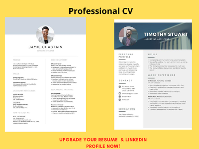 Write your CV, Cover Letter & LinkedIn profile