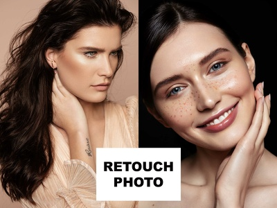 Do photo retouching, fashion, beauty photoshop editing (2photo)