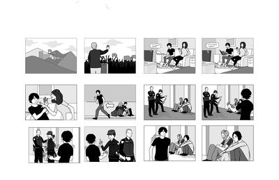 make storyboard or comics strip