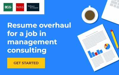 Review and edit your resume for management consulting roles