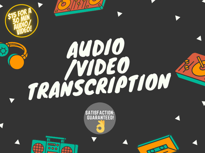 Transcribe your Audio/Video of 30 mins