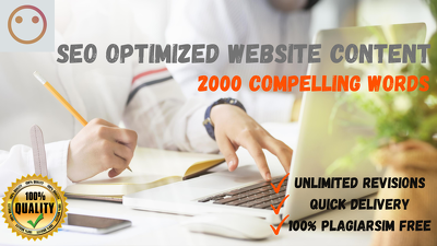 Write 2,000 words SEO optimized website content for your website