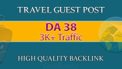 Guest Post on DA 38 Travel Website with DoFollow Backlink