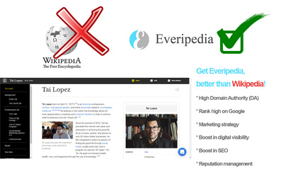 Publish your Profile on Everipedia.org Wiki - DA 73
