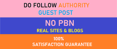 Write & Publish 10+ Unique Guest posts on DA 45 to DA 90 Blogs