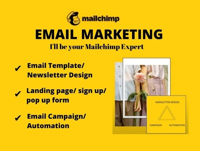 Design Mailchimp email Template and setup email campaign