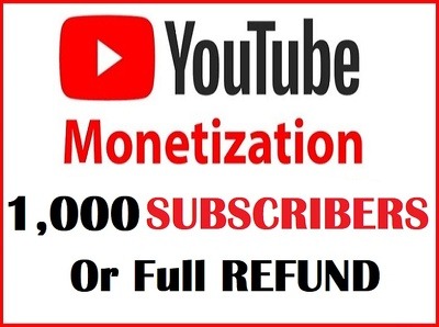 Get 1000 Real& Organic Subscribers on Youtube!Full Refund if not