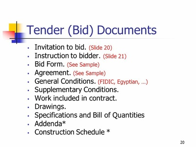 Prepare bid / solicitation / rfp / rfq documents for you