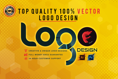 Logo design Unlimited concepts + Complete Source Files in 24 hrs