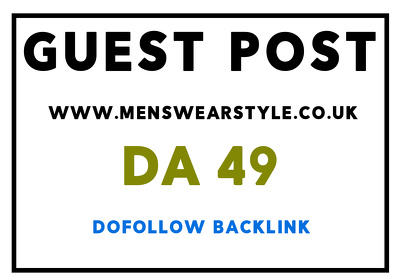 Guest post on Mens Wear Style blog and magazine