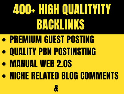 Boost Your Ranking with 400+ High Quality +Authority Backlinks