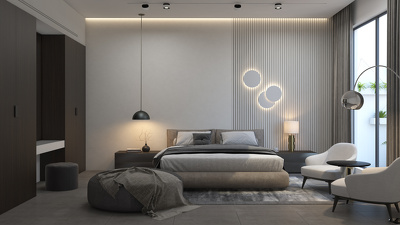 Design 3D photorealistic interior views for bedroom or house