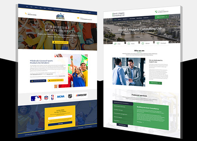 Design your website home page / landing page & receive PSD file
