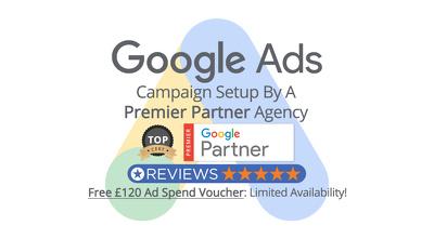 Google Premier Partner Adwords Build + £120 Ad Credit