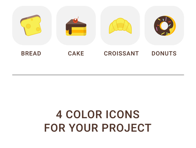 Draw 2 COLOUR iCONS in this style for your project