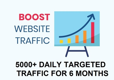 Send 5000 daily targeted real website traffic for 6 months