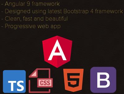 Develop you a single page web app