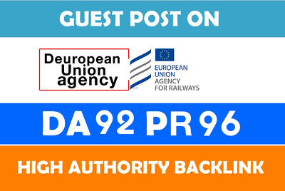 Premium link and High Authority Deuropean union agency DA92+