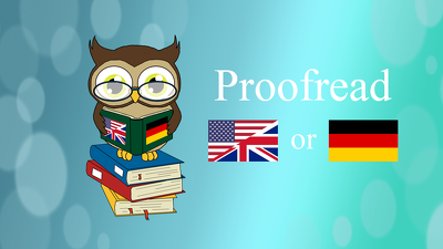 Proofread 1000 words in German or English