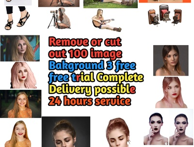 Cut out the background of your 110 photos and any kind of image