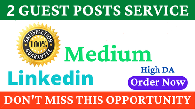 Write & publish guest post on Medium, Linkedin finance site