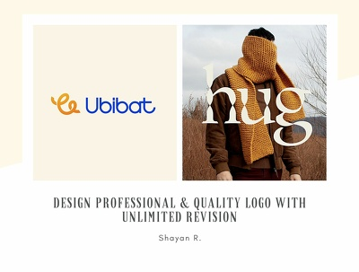 Design professional & quality Logo with unlimited revision