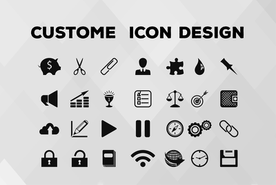 Design 5 icon sets or icon logo for your app or website in 6Hrs