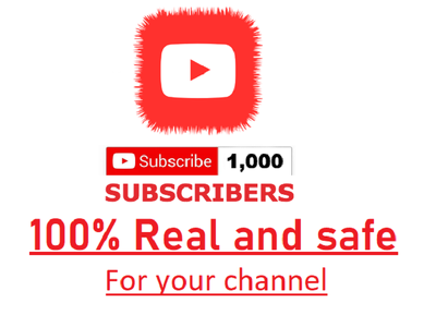 Provide 1000 Non drop real  Youtube Subscribers