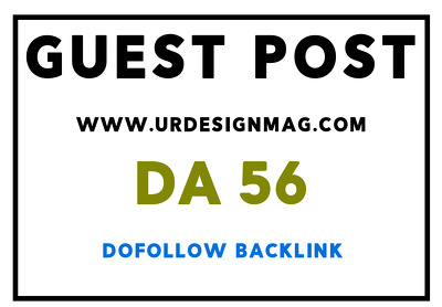 Publish guest post on urdesignmag.com