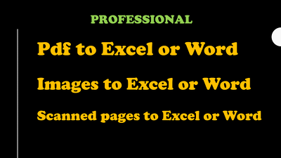 PDF to word conversation or editing up to 15 pages