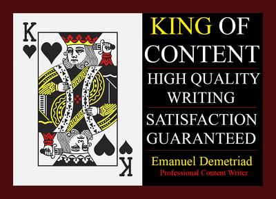 Write 500 words of PREMIUM and ORIGINAL content!