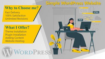 Set up WordPress Theme in hour