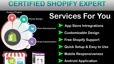 Create 10k dropshipping shopify store or shopify website