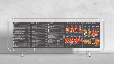 Design any kind of menu board and pricelists