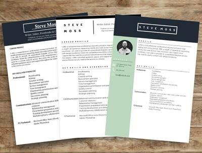 Write or rewrite modern eye catching professional resume