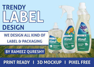Design Stunning Product Label or Packaging Design + Print Ready