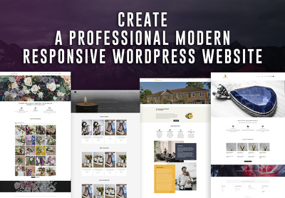 Develop and design a Wordpress website - Unique & Professional