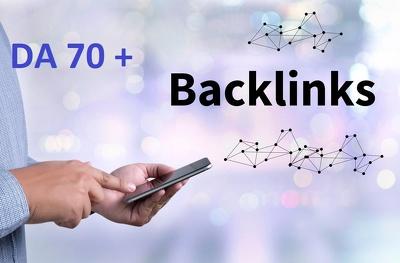 Give you 20  backlinks on high PR9 - DA (Domain Authority) 70+