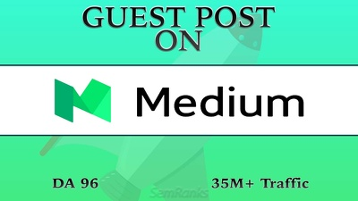 Write and Publish Article on Medium DA 96