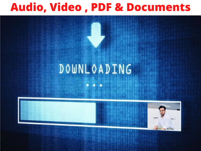 Do web scraping,  audio and video downloading in bulk